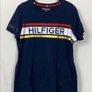 Tommy Hilfiger Navy blue tee shirt size Lg.